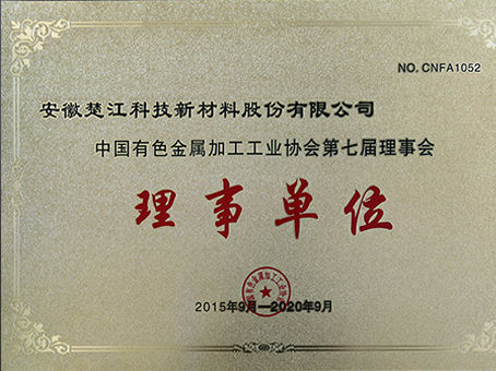 Member of China's Nonferrous Metal Processing Industry Association
