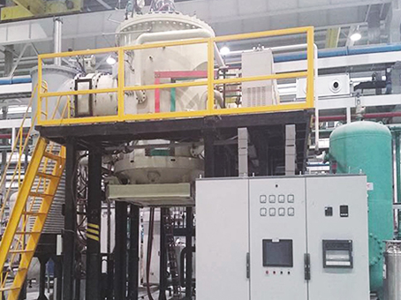 Vertical high vacuum brazing furnace