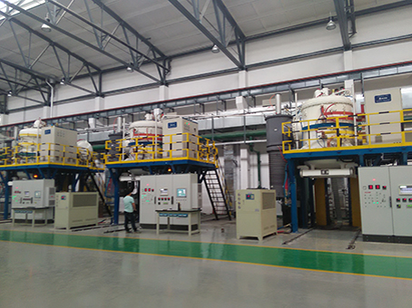 Vacuum thermal treatment digital production line